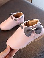 Недорогие -Девочки Обувь Полиуретан Наступила зима Удобная обувь / Модная обувь Ботинки Для прогулок Бант для Дети Бежевый / Серый / Розовый