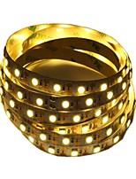 baratos -5m Faixas de Luzes LED Flexíveis 300 LEDs 2835 SMD Branco Quente / Branco Cortável / Decorativa / Adequado Para Veículos 5 V 1pç