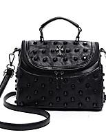 cheap -Women's Bags Sheepskin Shoulder Bag Rivet Black