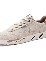 cheap -Men's Linen Spring / Fall Comfort Sneakers White / Black / Beige