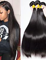 Недорогие -3 Связки Малазийские волосы Прямой Натуральные волосы Человека ткет Волосы / Накладки из натуральных волос 8-28 дюймовый Ткет человеческих волос Без шапочки-основы
