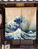 baratos -Porta Painel Cortinas cortinas Sala de Estar Geométrica / Contemporâneo Poliéster Impressão Reactiva