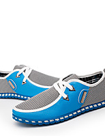 Недорогие -Муж. Обувь для вождения Лён Осень Удобная обувь Кеды Полоски Черный / Зеленый / Синий