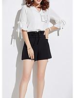 baratos -Mulheres Blusa Floral Colarinho de Camisa