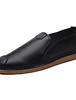 cheap -Men's Shoes PU(Polyurethane) Spring / Fall Comfort Loafers & Slip-Ons White / Black