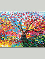 Недорогие -Hang-роспись маслом Ручная роспись - Пейзаж / Цветочные мотивы / ботанический Modern холст