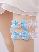 cheap -Lace Accent / Decorative / Euro Wedding Garter 617 Rhinestone Garters Wedding / Special Occasion