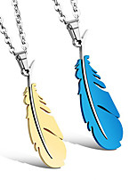 economico -Per uomo Collane con ciondolo - Europeo, Romantico, Di tendenza Oro, Blu 50 cm Collana 1pc Per Quotidiano, Appuntamento