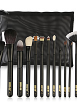 cheap -11pcs Makeup Brushes Professional Makeup Brush Set / Blush Brush / Eyeshadow Brush Wool / Nylon fiber Full Coverage Wooden / Bamboo