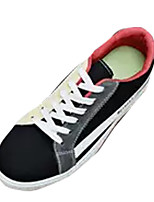 cheap -Men's Canvas / PU(Polyurethane) Summer Comfort Sneakers Color Block White / Black