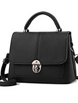 cheap -Women's Bags PU(Polyurethane) Tote Buttons Gray / Purple / Fuchsia