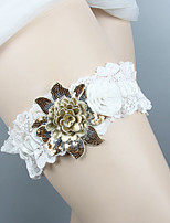 cheap -Chiffon Satin / Lace Classic Jewelry / Vintage Style Wedding Garter 617 Floral / Ruffle Garters Wedding / Party & Evening