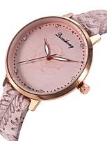 baratos -Mulheres Relógio de Pulso Relógio Casual / Legal PU Banda Casual / Fashion Preta / Branco / Cinza