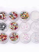 abordables -24 pcs Kits et ensembles d'art d'ongle / Bijoux d'art d'ongle / Nail Art Mélange de verre Décoratif / Couleur mixte Outil d'art des