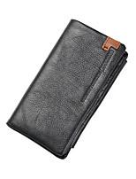 cheap -Men's Bags Nappa Leather Wallet Zipper Black