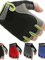 abordables -Gants d'Exercice pour Exercice & Fitness / Vélo / Gymnastique Antidérapant / Svelte / Demi Doigts Lycra / Filet Une Paire Rouge / Bleu /