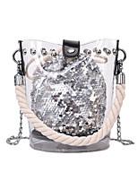 cheap -Women's Bags PVC(PolyVinyl Chloride) Bag Set 2 Pieces Purse Set Zipper Black / Blushing Pink / Silver