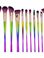 cheap -11pcs Makeup Brushes Professional Makeup Brush Set Nylon fiber Eco-friendly / Soft Plastic