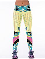 abordables -Femme Pantalon de yoga - Jaune Des sports Bohème Collants / Leggings Tenues de Sport Respirabilité Elastique
