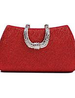 abordables -Femme Sacs Polyester Sac de soirée Détail Cristal Noir / Rouge / Argent