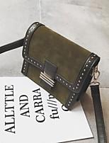 cheap -Women's Bags PU(Polyurethane) Shoulder Bag Rivet / Buttons Black / Brown / Khaki