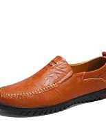 Недорогие -Муж. обувь Кожа Лето Мокасины Мокасины и Свитер Черный / Желтый / Темно-коричневый