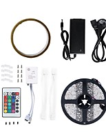 cheap -5m Flexible LED Light Strips / RGB Strip Lights 300 LEDs 5050 SMD / SMD5050 1 44Keys Remote Controller / 1 X 5A power adapter RGB / White / Red Cuttable / Waterproof / Decorative 100-240 V 1set
