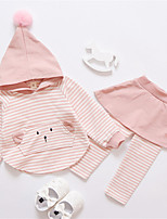cheap -Toddler Girls' Solid Colored Long Sleeve Clothing Set