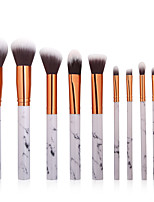 cheap -10-Pack Makeup Brushes Professional Blush Brush / Eyeliner Brush / Powder Brush Nylon fiber Full Coverage / Synthetic Plastic