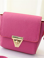 cheap -Women's Bags PU(Polyurethane) Shoulder Bag Buttons Red / Gray / Fuchsia