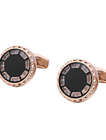 cheap -Circle / Geometric Golden Cufflinks Copper Classic / Basic Men's / All Costume Jewelry For Party / Gift