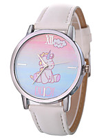cheap -Xu™ Women's Dress Watch / Wrist Watch Chinese Creative / Casual Watch / Large Dial PU Band Cartoon / Fashion Black / White / Blue