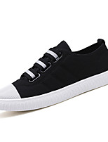 cheap -Men's Shoes Canvas Summer Light Soles Sneakers Black / Red