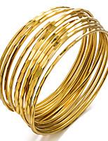 baratos -Mulheres Camadas Bracelete - Chapeado Dourado Étnico Pulseiras Branco / Laranja / Bege Para Festa / Presente