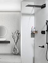 Недорогие -Смеситель для душа - Современный Хром На стену Керамический клапан