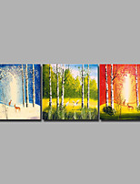 cheap -Print Rolled Canvas Prints / Stretched Canvas Prints - Animals / Seasons Modern