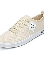 cheap -Men's Shoes Linen Summer Comfort Sneakers White / Black / Beige