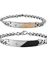 abordables -Zircon Chaînes & Bracelets - Coréen, Mode, Inspiration Bracelet Noir / Champagne Pour Quotidien / Rendez-vous