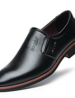 cheap -Men's Shoes Patent Leather Spring Comfort Loafers & Slip-Ons Black / Brown / Party & Evening