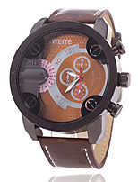 cheap -Men's Sport Watch Large Dial PU Band Casual / Fashion Black / Brown