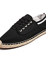 Недорогие -Муж. Полотно Весна Удобная обувь Кеды Черный / Белый / синий / Wit En Groen