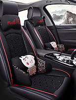 cheap -ODEER Car Seat Cushions Seat Covers Black Textile / Artificial Leather Common for universal All years All Models