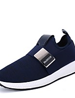 cheap -Men's PU(Polyurethane) / Elastic Fabric Spring / Summer Comfort Sneakers Black / Light Grey / Blue