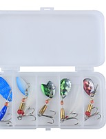 cheap -7 pcs pcs Hard Bait / Metal Bait / Spinner Baits Hard Bait / Metal Bait Metalic / Feathers / Carbon Steel Wear-Resistant / Easy to Carry / Light and Convenient Sea Fishing / Bait Casting / Freshwater