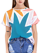 cheap -Women's Going out T-shirt - Color Block