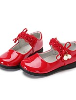 cheap -Girls' Shoes PU(Polyurethane) Spring & Summer Comfort / Flower Girl Shoes Flats Walking Shoes Bowknot / Magic Tape for Kids Black / Red /