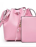 cheap -Women's Bags PU(Polyurethane) Bag Set 2 Pieces Purse Set Zipper Red / Blushing Pink / Purple