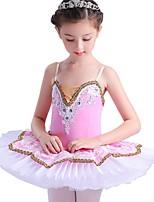 abordables -Danse classique Robes Fille Utilisation Spandex Combinaison Sans Manches Tutu