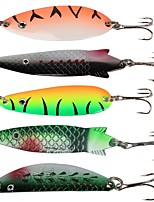 cheap -6 pcs pcs Hard Bait / Metal Bait / Spinner Baits Hard Bait Sequin / Metal Easy Install Sea Fishing / Bait Casting / Ice Fishing
