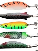 economico -6 pcs pc Esche rigide / Esca metallica / Rotazione esche Esche rigide Lustrini / Metallo Facile da installare Pesca di mare / Pesca a mulinello / Pesca a ghiaccio